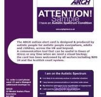 Autism Alert Card Developed by local group.