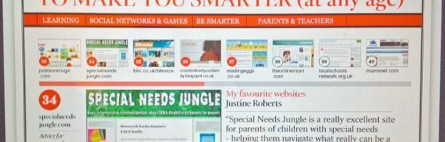 "Special Needs Jungle named in The Times ""Top 50 Sites To Make You Smarter"""
