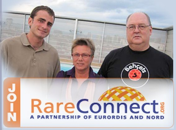 Rob with members of one of RareConnect's communities