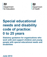 SEN Code of Practice: what does this look like in Schools?