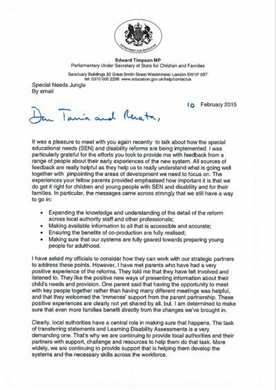ed timpson letter