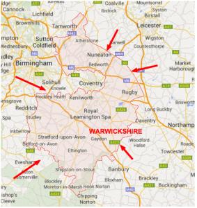 Where's Warwickshire?
