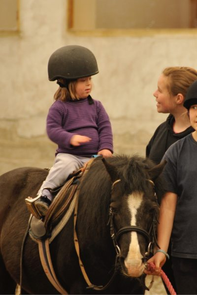 Horse-riding can develop core strength in children with low muscle tone.