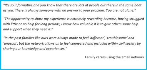 Carers using the email network