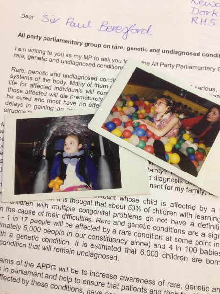 Rare Disease Uk Letter To Mp