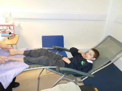child having reflexology image