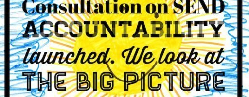 Consultation on SEND Accountability launched. We look at the big picture
