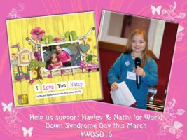 Help Hayley raise awareness this World Down syndrome Day #WDSD16