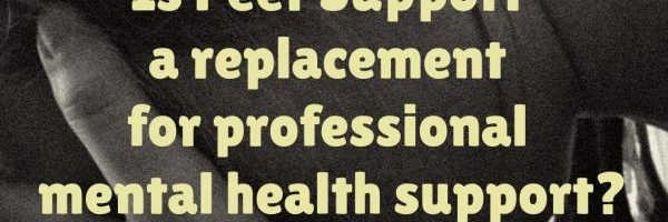 Is Peer Support a replacement for professional mental health support?