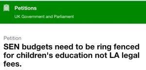 screen shot of petition