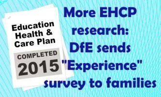 """More EHCP research: DfE sends """"Experience"""" survey to families"""
