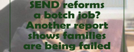 SEND reforms a botch job? Another report shows families are being failed