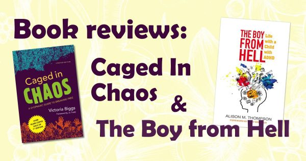 booke reviews: caged in chaos and the boy from hell