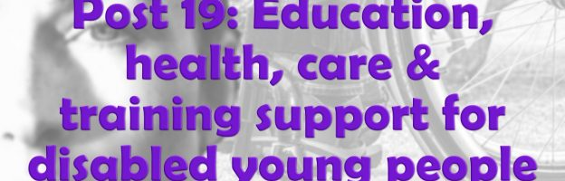 Post 19: Education, health, care and training support for disabled young people