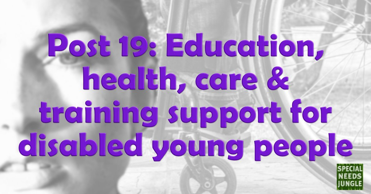 Education health care training support post 19s with disabilities