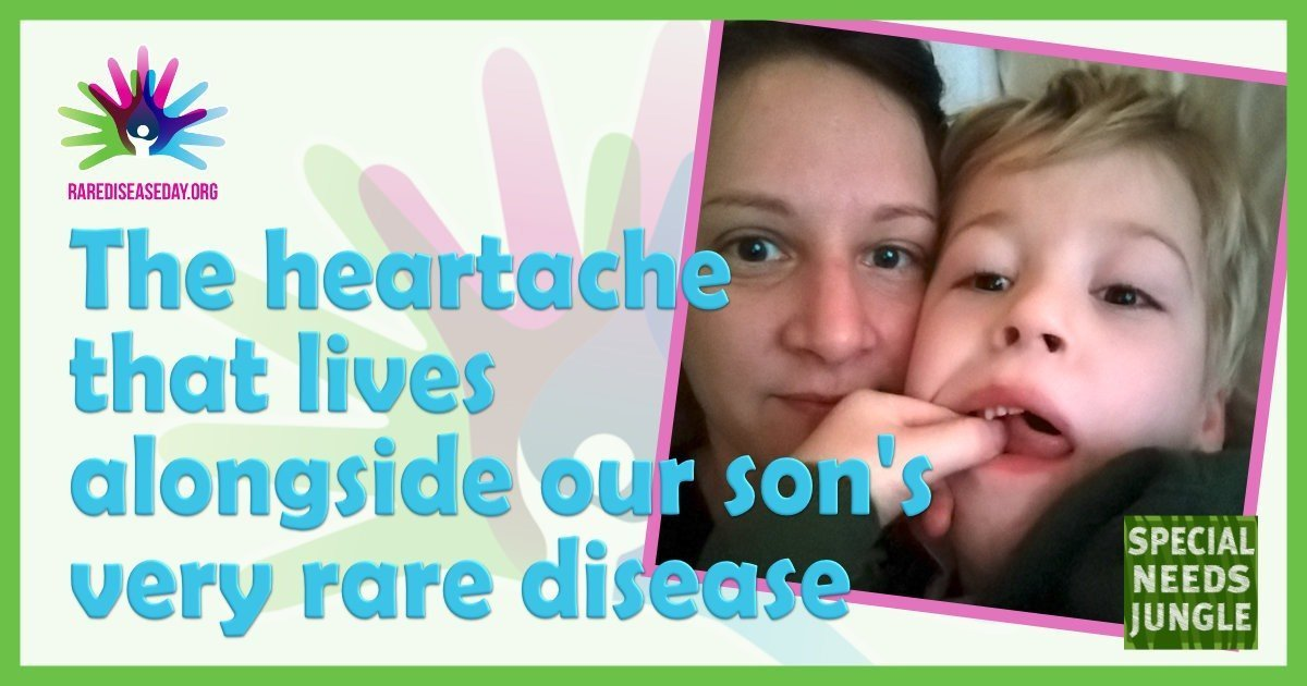 The heartache that lives alongside our son's very rare disease