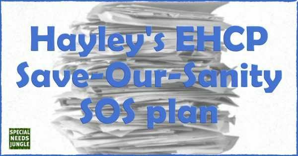 Hayley's EHCP save our sanity SOS plan