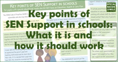 Key points of SEN Support in schools: What it is and how it should work