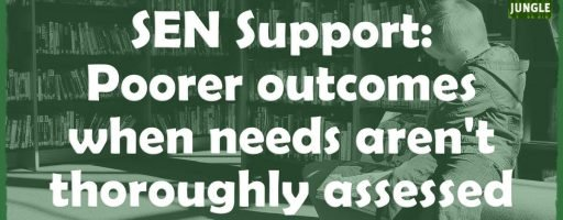 SEN Support: Poorer outcomes when needs aren't thoroughly assessed