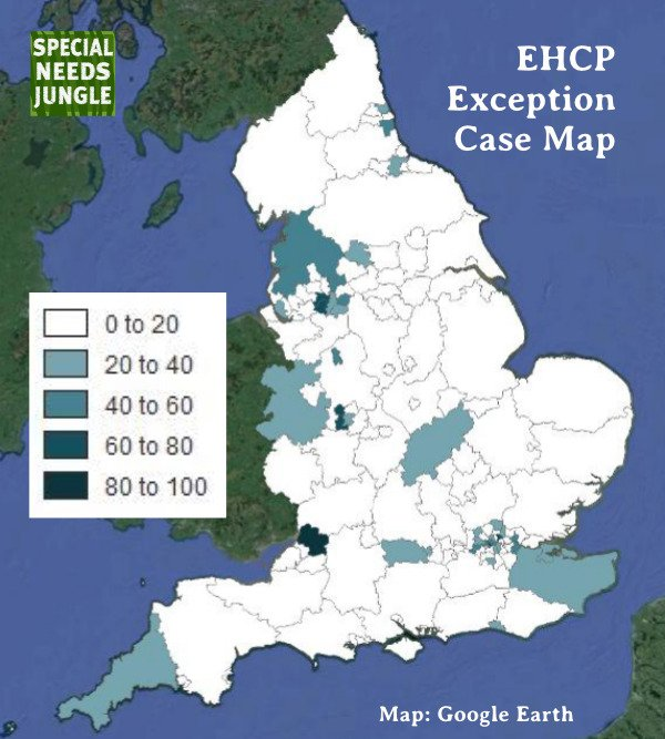 EHCP Exception Case Map England