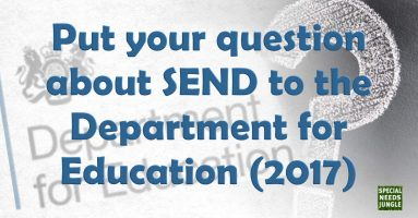 Put your question about SEND to the Department for Education (2017)