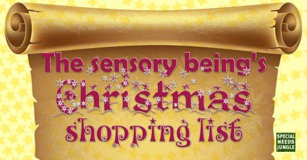 sensory being christmas shopping listx