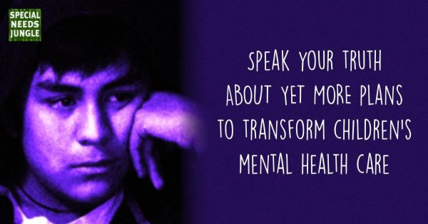 Image of young sad teenager with title of Speak your truth on MORE new plans to transform children's mental health care