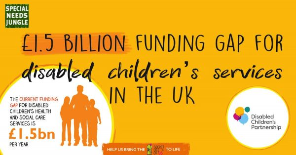 Title image: 1.5 billion funding gap disabled childrens services UK