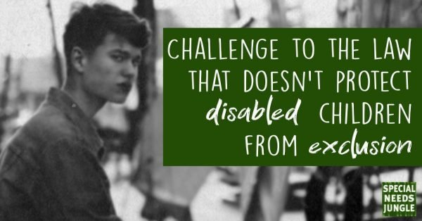 Challenge to law doesn't protect disabled children exclusion. Base image Photo by Mikail Duran on Unsplash