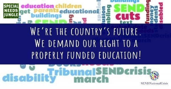 We're the country's future. We demand our right to a properly funded education!