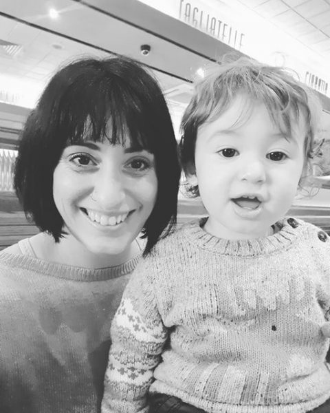 Nadia Turki with her son