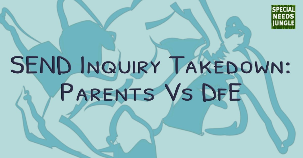 Send Inquiry Takedown Parents Vs Dfe Special Needs Jungle