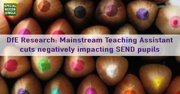 Research: Mainstream Teaching Assistant cuts negatively impacting SEND pupils