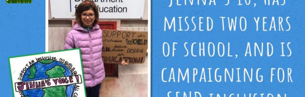 Jenna's 10, has missed two years of school, and is campaigning for SEND inclusion