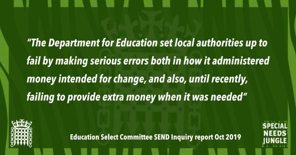 """The Department for Education set local authorities up to fail by making serious errors both in how it administered money intended for change, and also, until recently, failing to provide extra money when it was needed"""