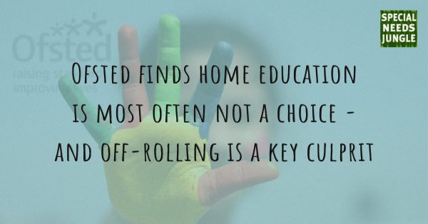 NEW POST: A new Ofsted study finds home education is most often not a choice - and off-rolling is a key culprit.