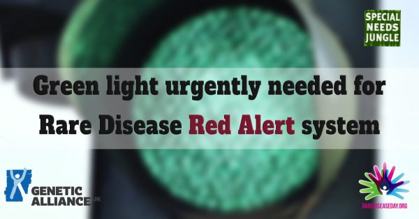Green light urgently needed for Rare Disease Red Alert system