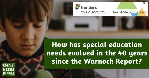 How has special educational needs evolved in the 40 years since the Warnock Report?
