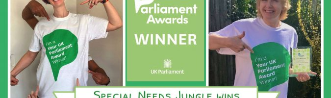 Special Needs Jungle wins Your UK Parliament's Volunteer of the Year Award!