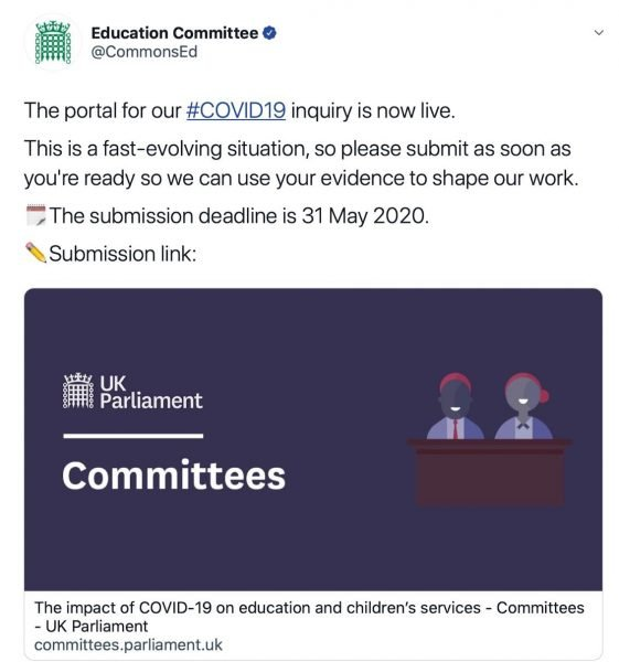 Commons education committee inquiry