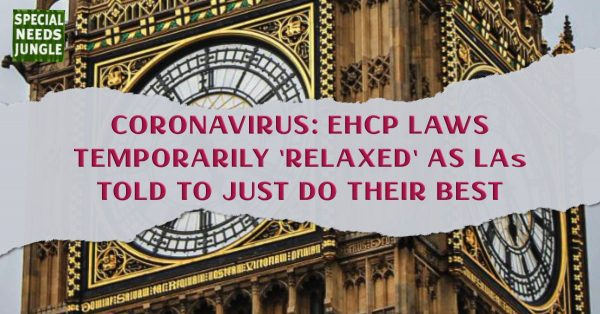 EHCP laws relaxed as LAs