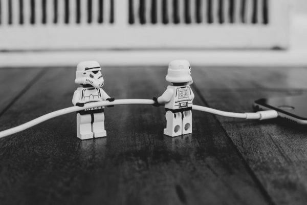Lego storm troopers with hose