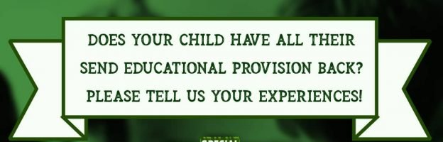 SURVEY: Does your child have all their SEND provision back? What's your family's experience been this term?