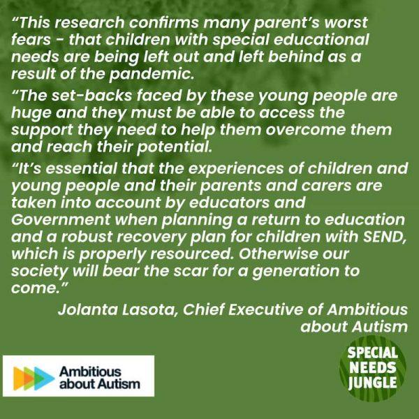 Ambitious About Autism Comment