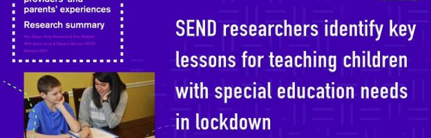 SEND researchers identify key lessons for teaching children with special education needs in lockdown