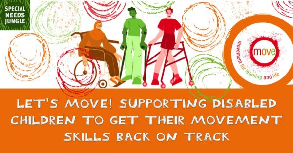 Image of title with drawing of some people with movement disabilities