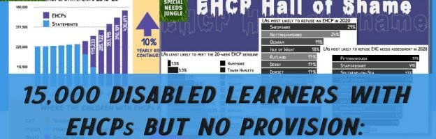 15,000 disabled learners with EHCPs but no provision: The EHCP figures for 2021