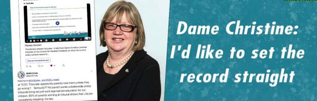 Dame Christine: I'd like to set the record straight